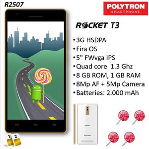 Smartphone Harga 900 ribuan, Polytron Rocket T3 R2507 dengan Layar 5 Inchi
